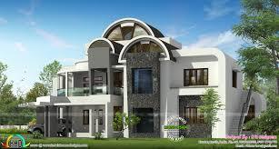 half round roof unique house design kerala home design and floor