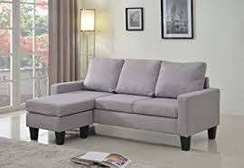 adjustable sectional sofa com home life linen cloth modern contemporary upholstered