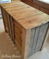 build your own kitchen diy pallet kitchen island for less than 50 pallets storage and