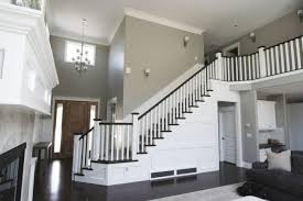 indoor stairs in the house with molding wearefound home design
