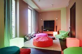 Orange And White Rugs Bright Tenn Bedroom With Green Curtain Orange And Pink Round Big
