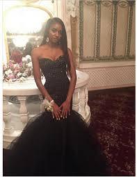 black prom dresses mermaid style sweetheart sleeveless tulle