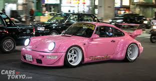 pink porsche 911 cars of tokyo night runs porsche 911 rwb cars of tokyo