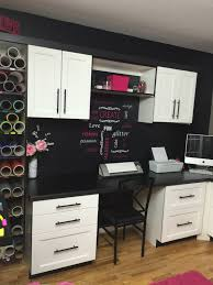 What Is Cricut Craft Room - craft room build in vinyl roll storage black and white with pink