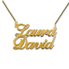 necklace pendant names images 18k gold plated silver two names pendant necklace mynamenecklace jpg