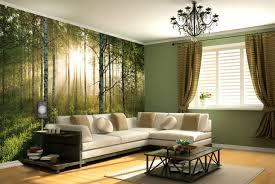 Steely Light Blue Bedroom Walls by Mural Amazing Wall Murals Trees Create A Dreamy Bedroom Interior