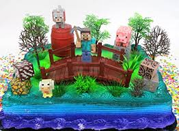 minecraft cake topper minecraft 14 birthday cake topper set featuring