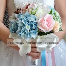 Wedding Decorations Cheap Wf053 2016 New Boho Beach Wedding Flowers Bouquet Bridesmaid