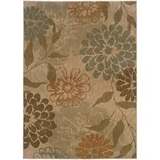 Infinity Area Rugs Weavers Infinity Beige Green Floral 1134a Area Rug