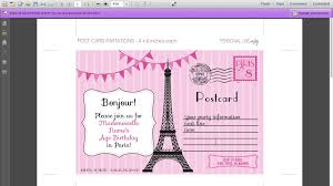 How To Write A Birthday Invitation Card Editable Paris Invitations For Your Paris Birthday Party Youtube