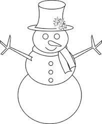 free snowman clip art image snowman coloring