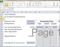 Free Bank Statement Template Excel Balance Sheet Reconciliation Template Excel