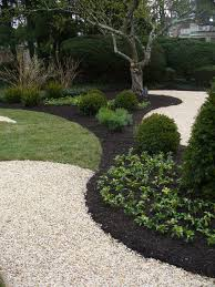 White Rocks For Garden by Pretty For The Woodlands Black Mulch Next To Crushed Stone