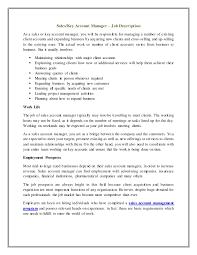 Account Executive Job Description Resume by Sales Key Account Manager U2013 Job Description
