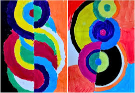 delaunay in primary secondary and achromatic colors