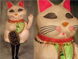 Neko Halloween Costume Maneki Neko Lucky Cat Costume Threads