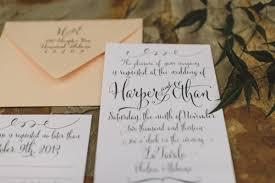 Calligraphy Wedding Invitations Modern Calligraphy Wedding Invitation Elizabeth Anne Designs