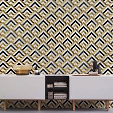 self adhesive removable wallpaper art deco wallpaper geometric wallpaper self adhesive