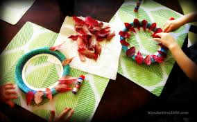 crafting with kids fall leaf wreaths