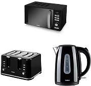 4 Slice Toaster And Kettle Set Black Kettle And Toaster Shop Online And Save Up To 44 Uk