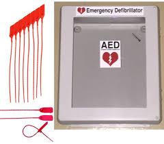 amazon com defibrillator aed cabinet box with window weather