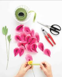 paper flowers how to make paper flowers peony martha stewart weddings