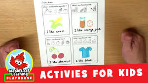 my favorites coloring activity for kids maple leaf learning