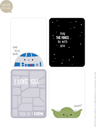 wars thank you cards olive printable wars day journal cards