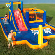 park inflatable games water slide bounce house backyard pool big