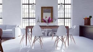 dining room scandinavian open plan dining space features black