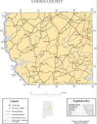 map of county coosa county alabama history adah
