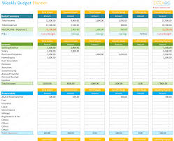 Travel Budget Template Excel Weekly Budget Planner Template Spreadsheet Dotxes