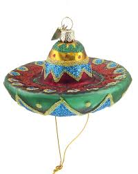 mexican sombrero hat personalized ornament