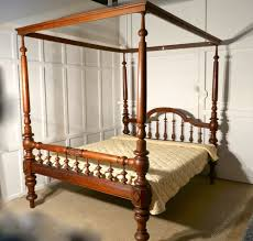 Indian Bed Furniture Colonial Raj Four Poster 6ft Bed Anglo Indian Bed Antiques Atlas