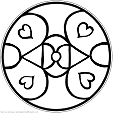 printable children coloring page abstrac heart mandala flickr