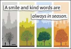 a smile and words are always in season popular