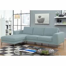 breeze seafoam blue sofa with left hand facing chaise