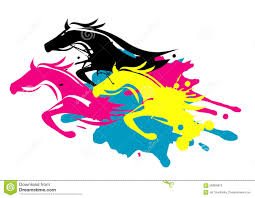 print colors as running horses stock vector image 56984810