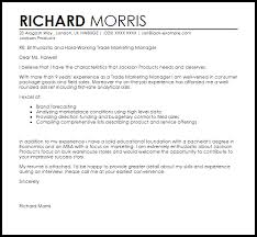 best ideas of marketing manager cover letter sample in template