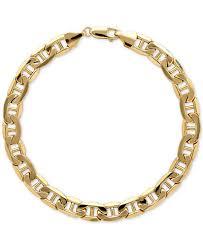 marine jewelry italian gold men s beveled marine link bracelet in 10k gold