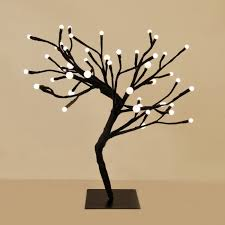decorative white bonsai style led tree light ideas navidad