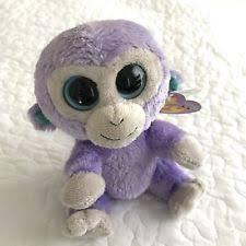 ty beanie boos boo blueberry purple monkey 36014 ebay