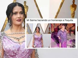 Salma Hayek Meme - premios oscar memes se burlan del extravagante vestido de salma