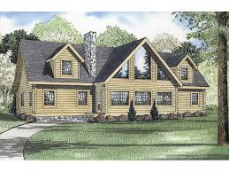 turner way a frame log home plan 073d 0048 house plans and more