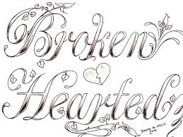 drawn broken heart hearted pencil and in color drawn broken
