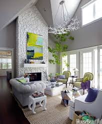 white stone fireplace home design ideas