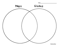 globe and maps worksheet and globes venn diagram social studies geography minilesson and