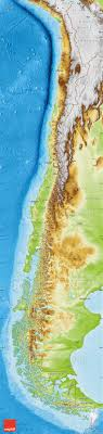chile physical map physical map of chile