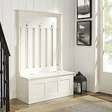 lovable white entryway bench with storage hall tree with storage