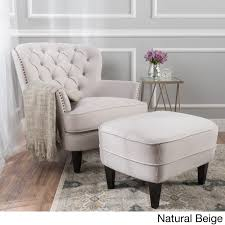 Tufted Grey Ottoman Tafton Tufted Fabric Club Chair With Ottoman By Christopher